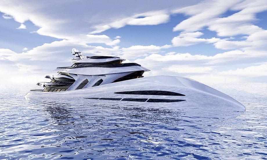 Yachten er omkring 14,5 meter bred. Foto: Expleo Design