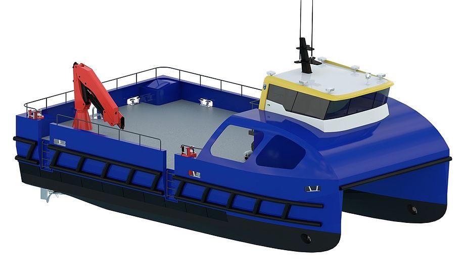 Grundet katamaranens konstruktion med høj styrke og lav vægt er det muligt at forene høj fart med lave driftsomkostninger. Foto: Tuco Marine