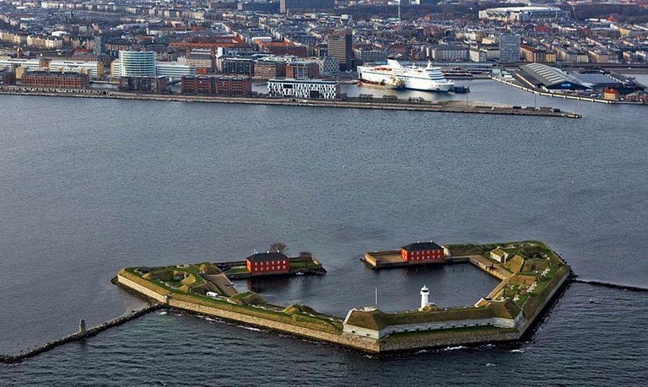 Nu kan lystsejlere igen sejle til Trekroner-fortet. Foto: trekroner.dk