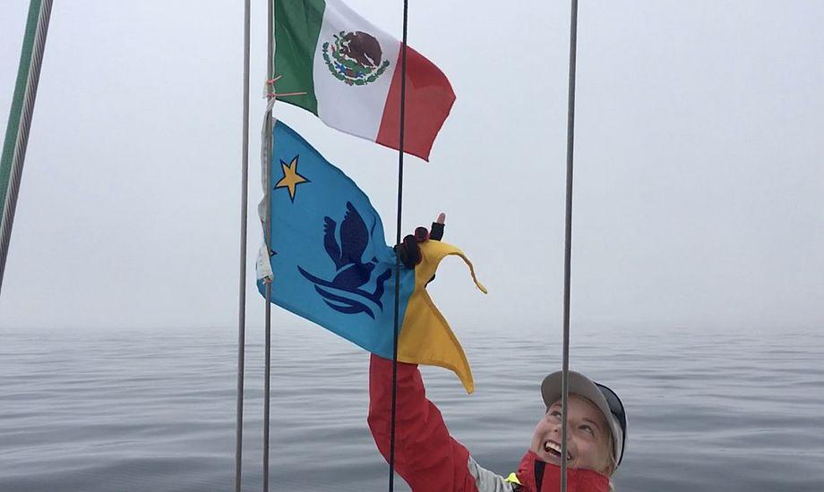Stemningen var høj, da grænsen til Mexico endelig kunne krydses. Foto: Privatfoto