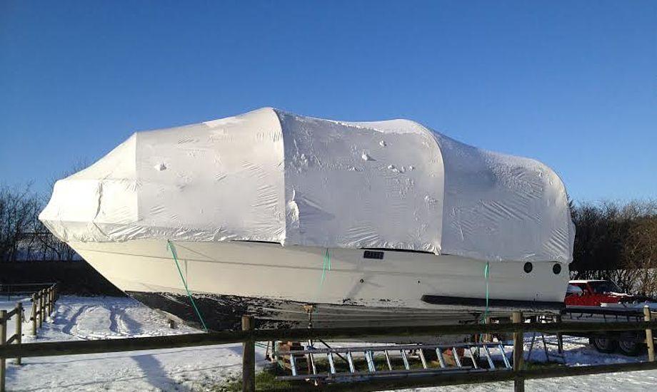 Kunden kan normalt godt bruge deres eget vinterstativ til HF Krympeplast. PR-foto