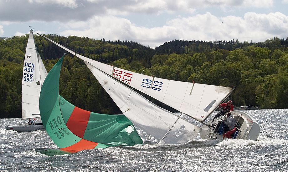 Drama på Silkeborg Søerne. Her kæmpes for at blive om bord. Foto: Jens Hjort