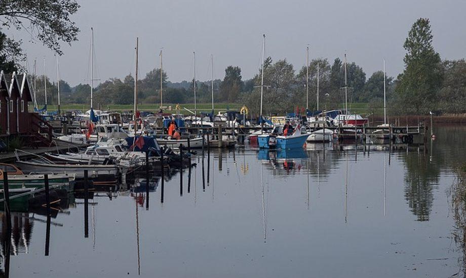 Størstedelen af de både, der er på auktion i Vallensbæk, har de sidste år skiftet havnebassinet ud med et permanent ophold på land. Foto: Vallensbæk Havn