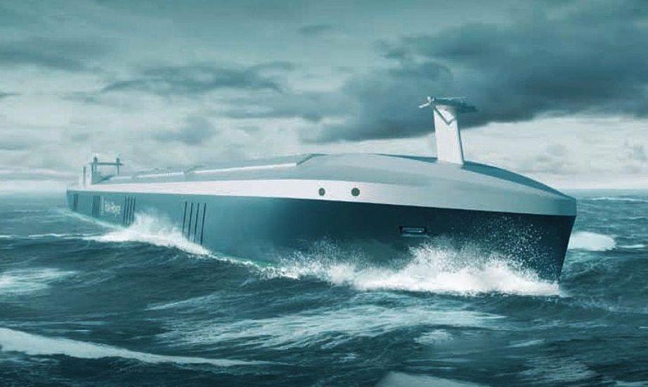 Selvsejlende fragtskibe vil, ifølge Rolls Royce, inden for få år kunne ses på verdenshavene. Foto: Rolls Royce