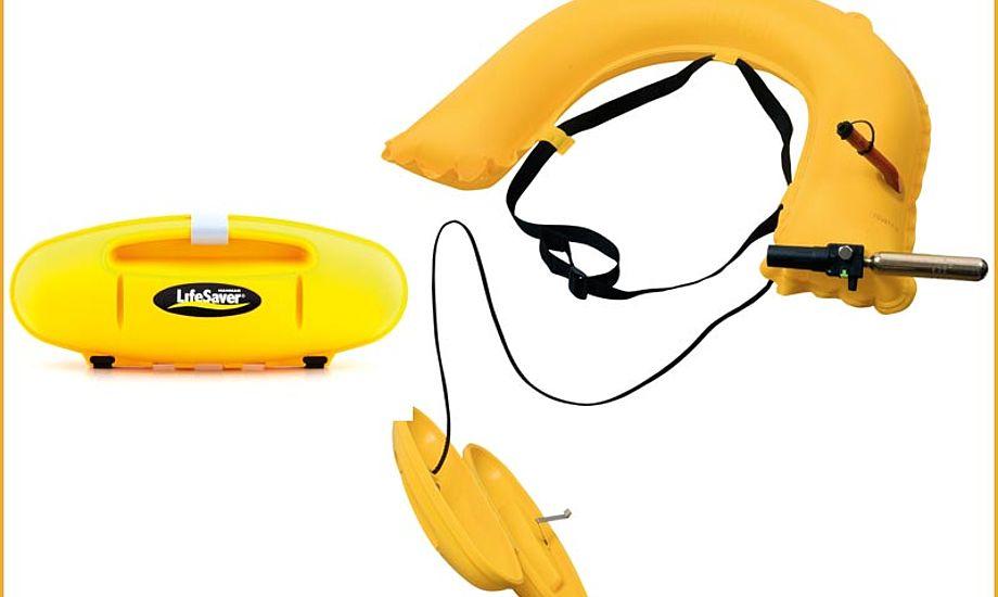 LifeSaver kan monteres på søgelænder eller indbygges i båden. Foto: Palby