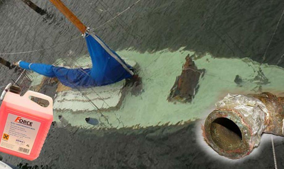 Har du sørget for at din båd er i orden, ender det ikke som denne her. Foto: Bådnyt/Katrine Bertelsen