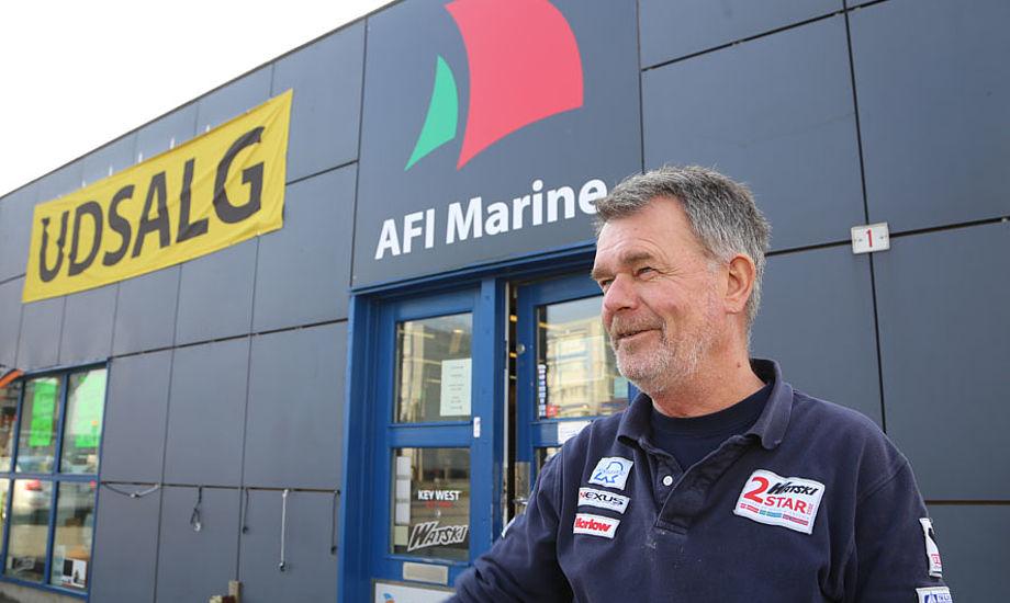 Hans V. Jensen, medejer af AFI Marine, der nu tvinges væk fra havnen af Aarhus Kommune, det er ikke noget kommunen scorer point på hos sejlerne. Foto: Troels Lykke