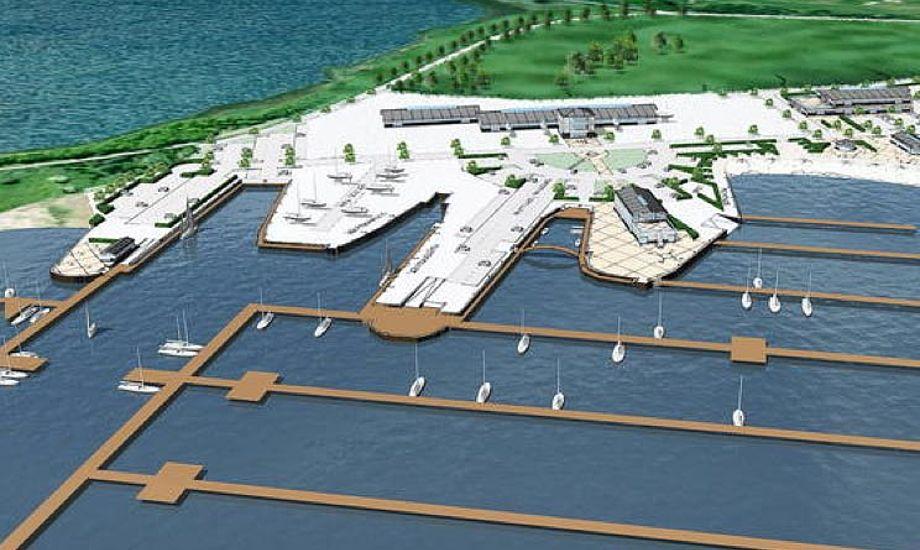 Planen for Admiral Marina i Nyborg, som skitsen så ud i 2010.