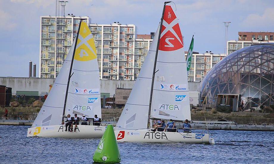 Sejlsportsligaen i Aarhus trak flere hundrede tilskuere til hver dag. Foto: Troels Lykke