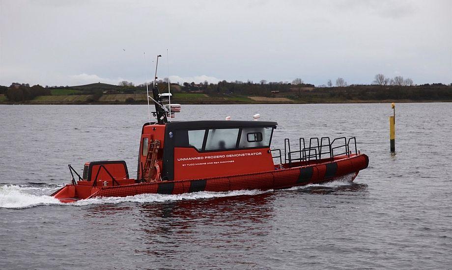 Tuco Marines ProZero-arbejdsbåde kan blandt andet styres med fjernbetjening fra land. Foto: PR-foto