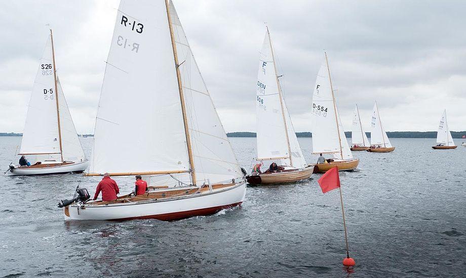Trælystbådenes Sophus Weber Race på Lunkebugten mellem Thurø, Tåsinge og Langeland blev afviklet i milde vinde og moderat solskin. Foto: Søren Stidsholt Nielsen