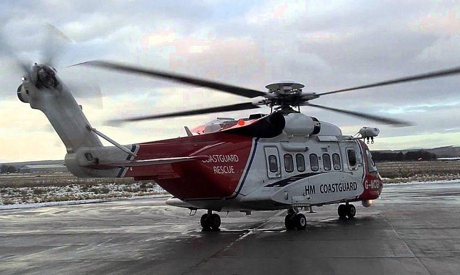 Med signal fra PLB kunne redningshelikopteren lokalisere den nødstedte. Foto: YouTube
