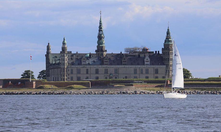 Fiskerne sejlede bl.a. i farvandet ud for Kronborg. Foto: Troels Lykke