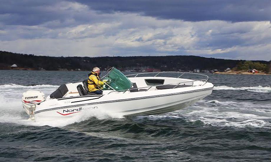 Vi testede Nordkapp Enduro 605 nær Oslo, en hurtig sag, der sejlede topfart med 37,3 knob. Foto: Troels Lykke