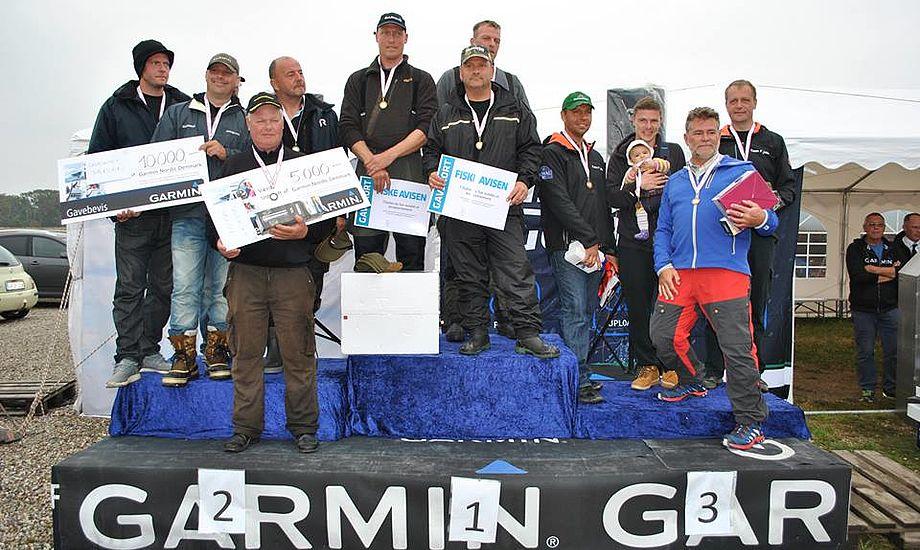 Vinderne til DM i Fladfisk i Onsevig 2015.
