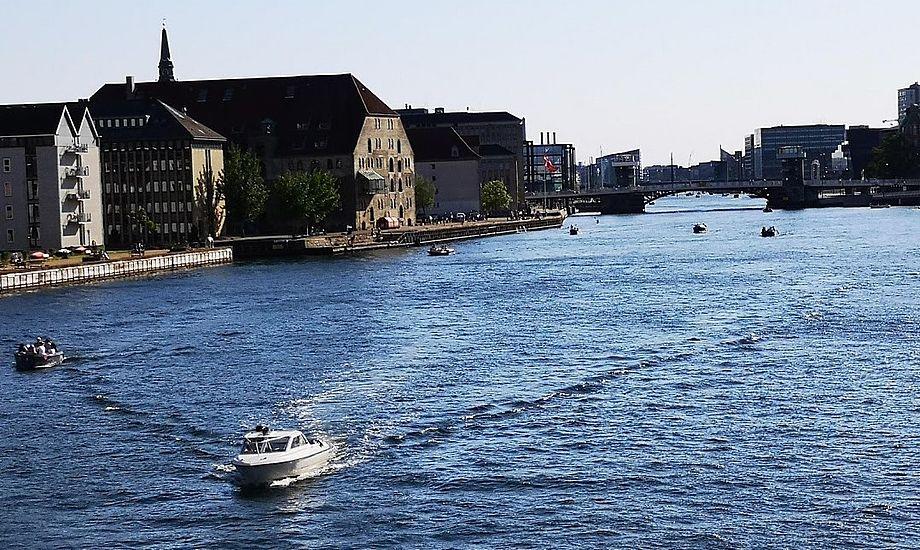 Afspærringen er kun midlertidig i Sydhavnen i København. Her ses Københavns havns nordligere ende. Foto: Troels Lykke