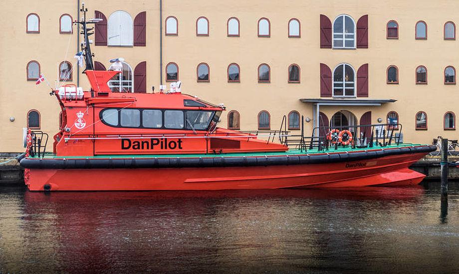 Det nye lodsfartøj er det første Danpilot i Svendborg får leveret fra Baltic Workboats Shipyard i Estland. Foto: Søren Stidsholt Nielsen, Fyns Amtsavis, Søsiden