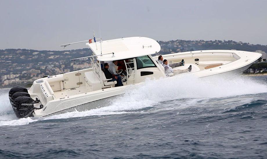 Båden bruges af hardcore lystfiskere, der hurtigt vil 100 sømil ud fra kysten og hjem igen samme dag. Foto: Troels Lykke