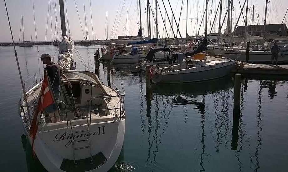 Her ses Samsø Havn, hvor der lige nu er fredeligt. Foto: Troels Lykke