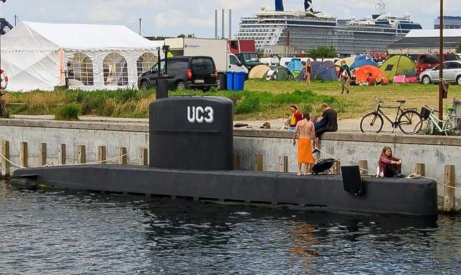 Sådan så U3 Ubåden ud for tre uger siden, da den lå i København. Foto: Anders Lindskog