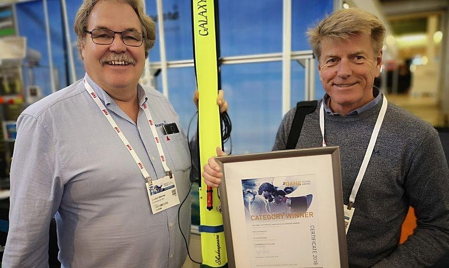 Gordon Skinner og Peter Visby fra grossisten Scanmarine var stolte på Mets. De fik ideen til produktet i 2016. Foto: Troels Lykke