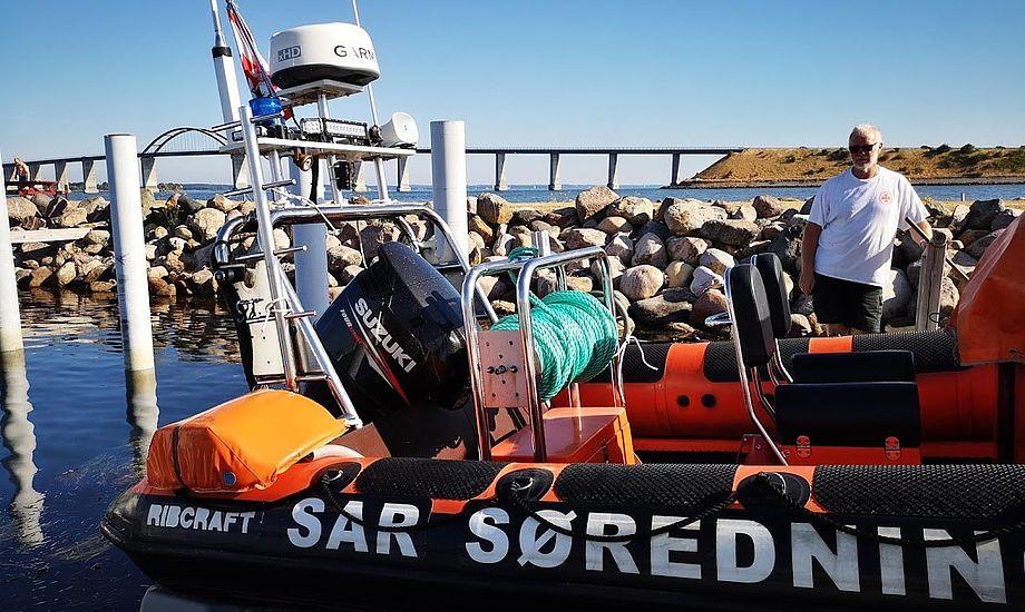 Frivillige Dansk Søredning har ni stationer rundt omkring i Danmark. Her ses en i Rudkøbing. Foto: Troels Lykke