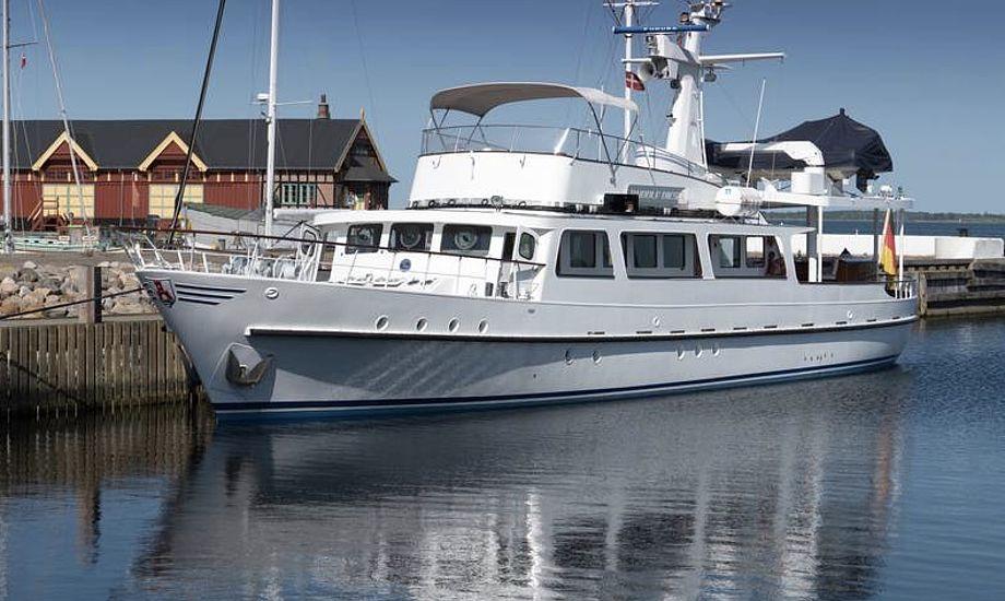 Den tidligere smuglerbåd lagde til i det fynske i weekenden. Foto: Søren Stidsholt Nielsen, Søsiden, Fyns Amts Avis