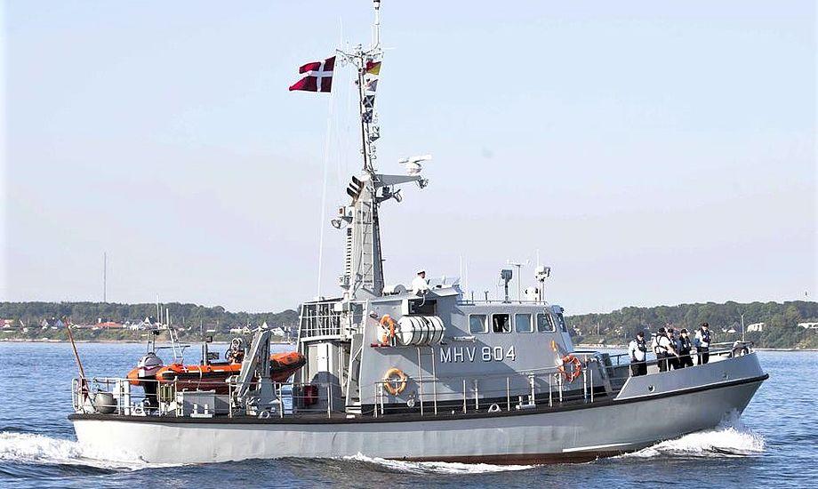 MHV 804 ANDROMEDA er bygget til at klare hårdt vejr. Det blev de to nødstedte lystsejleres og deres båds redning. (Arkivfoto)