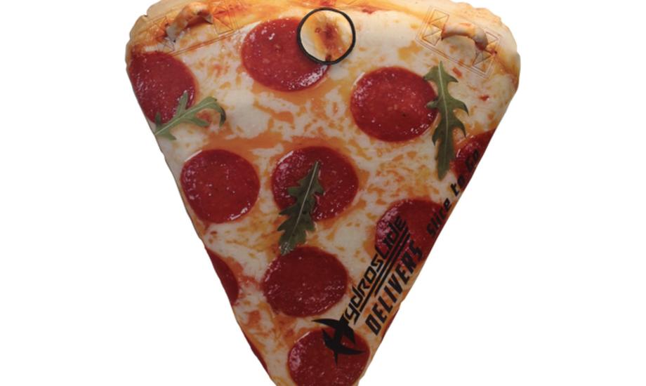 Pizza-tuben er oppustelig og kan dermed let opbevares, når den ikke er i brug. Foto: Watski