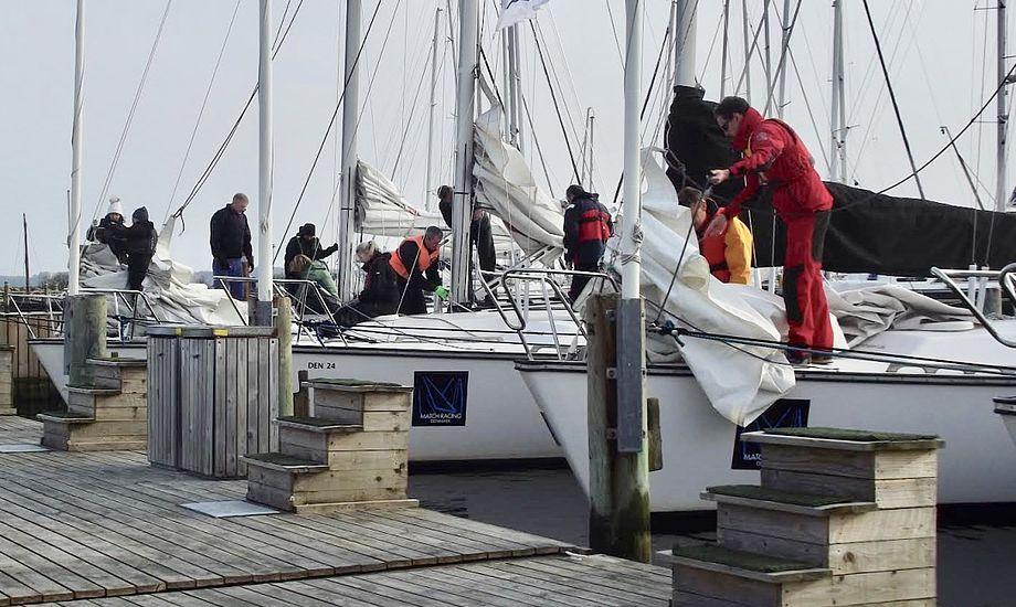 Dansk Sejlunion og dens medlemsklubber spiller i dag en stor rolle for sejlernes uddannelse. Foto: Middelfart Sejlklub