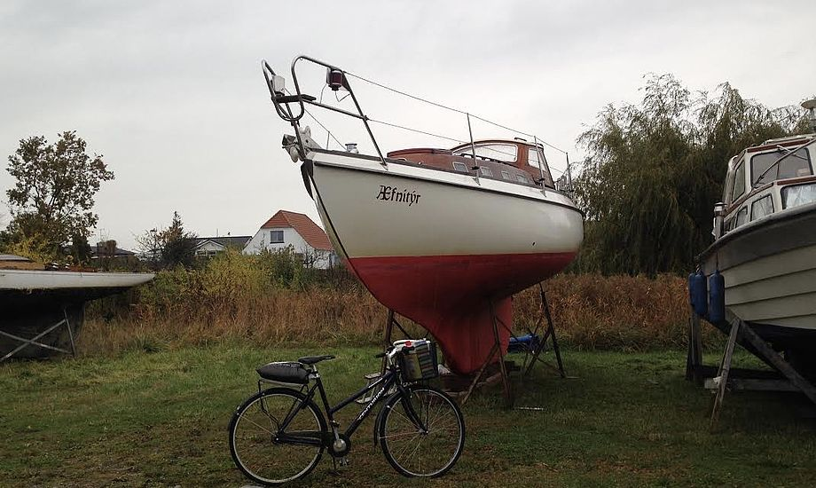 Det var synd, jeg skulle cykle i det vejr. Foto: Malene Wilken
