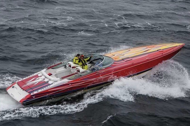 De lynhurtige både gæster København i juli under Copenhagen Poker Run. Foto: Powerboats.dk